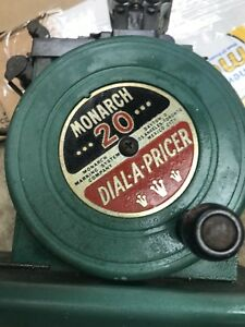 Vintage Monarch 20 Dial a pricer Price Marking Machine Labeler Green