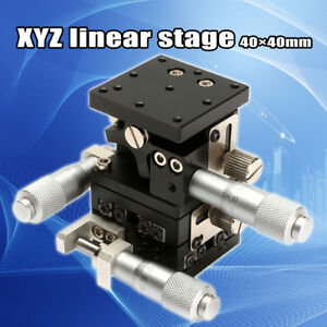 Xyz Linear Stage Slip Cross roller Bearing Miniature Compact Left Hand 40mmx40mm