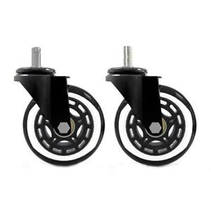 5pcs 3 Office Chair Caster Wheels Roller Rollerblade Style Castor Wheel Replace