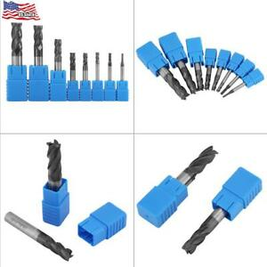 8pcs 2 12mm 4 Flutes Carbide End Mill Set Tungsten Steel Milling Cutter Tool Kit