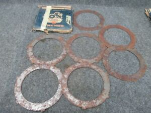 1956 1960 Oldsmobile Hydramatic Steel Drive Clutch Plates Set Of 7 Plates