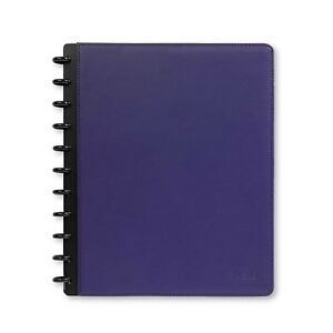 Levenger s Leather Foldover Notebook Purple Letter 81 al8390 no Mono