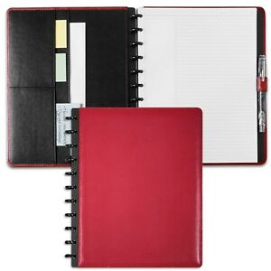 Levenger Circa Leather Foldover Notebook Red Letter al8390 73 no Mono