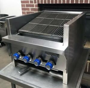 Imperial Iabr 24 Restaurant Equipment 24 Cast Iron Counter Top Gas Charbroiler