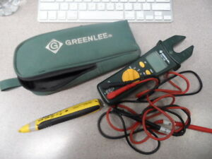 Greenlee Csj 100 Jaw Clamp Meter sperry Vd6505 Voltage Detector Non Contact
