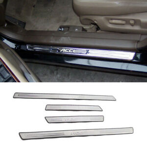 For Honda Accord 98 02 External Protector Sill Scuff Cover Car Door Plate Sticke
