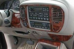 Ford F150 Expedition Fits 1997 1998 1999 2000 01 02 New Style Wood Dash Trim Kit