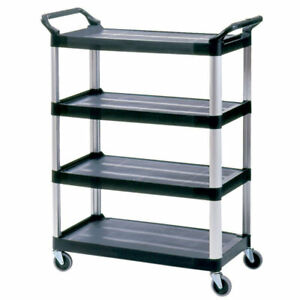 Rubbermaid Commercial 4 Shelf Open Sided Utility Cart