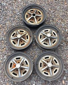 Original Chrysler Mopar Dodge Road Wheel Magnum 500 Set 14x5 5 1972 1974
