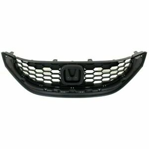New Ho1200216 Grille With Emblem Provision For Honda Civic 2013 2014 Sedan