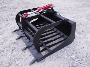 Bobcat Tractor Skid Steer Attachment 48 Rock Grapple Tooth Bucket Free Ship