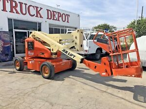 Jlg 40 Electric Articulating Boom Lift Narrow Aerial Manlift Jib Low 560 Hours