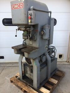 Cimco Ac60 12 l Hydraulic Press Punch 7 5 Hp 3ph Fast Acting Adjustable Stroke