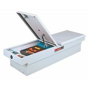 Jobox White Full Size Truck Dual Lid Steel Crossover Tool Box Psc1460000