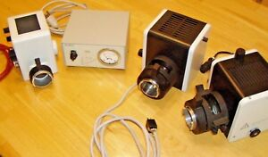 Leitz Wetzlar Microscope Lamp Houses And Power Supply Parts Lot