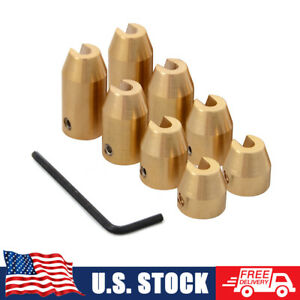 8 Pieces Motorcycle Reusable Brass Wheel Spoke Balance Weights With Wrench Tool