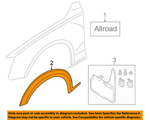 Audi Oem 17 18 A4 Allroad Fender Stone Guard Left 8w9853717amx3