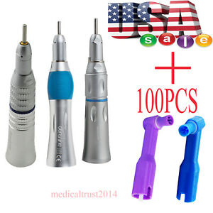 100pcs Non latex Cup Dental Prophy Angles 3 Types Low Speed Straight Handpiece