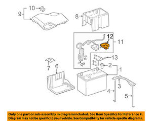 Acura Honda Oem 05 12 Rl Battery positive Cable Upper Cover 38221sjaa01