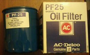 Ac Pf25 Oil Filter Chevy Gmc Gm Vintage Engine