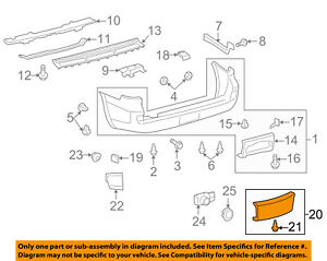 Toyota Oem Land Cruiser Rear Bumper Access Or Tow Hitch Cover Panel 5216960070a1