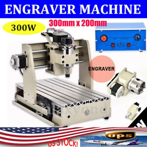 Cnc3020 4 Axis Engraver Router Engraving drilling milling Machine 3d Cutter 300w