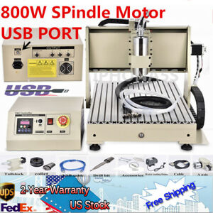 3040 Cnc 4 Axis Usb Router Engraver 3d Engraving Drill Milling 800w Vfd 24k Rpm