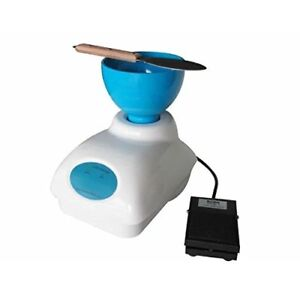 Dental Impression Alginate Mixer Material Mixing With Foot Pedal Control Bowl