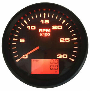 New Arrival 85mm 0 3000rpm Tachometer Gauge Lcd Rev Counter With Trip Hour Meter