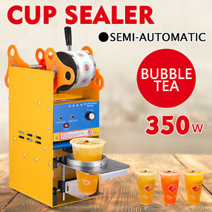 300 500 Cups h Semi automatic Tea Cup Sealing Machine Pp Safe High Efficiency