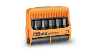 Beta Tools 860 Pe a10 10pc Hexagon Bit Set 2 6mm With Magnetic Holder In Case