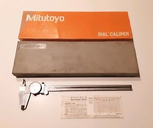 Mitutoyo No 505 645 50 Dial Micrometer Caliper 0 12 W Case Stainless Hardened