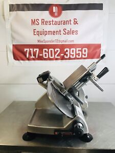 Hobart 2812 12 Manual Meat Cheese Deli Slicer W Sharpener
