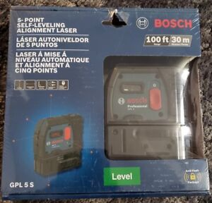Bosch Gpl 5 S 5 point Self leveling Alignment Laser New In Box