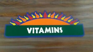 Retail Store Inside Hanging Sign Vitamins Health Shop Store Retail Sign