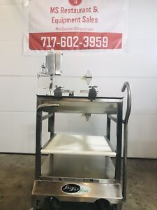 Meat Slicer Cart Stainless Nsf Face To Deli Buddy Commercial Food Prep Stand