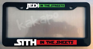 Jedi In The Streets Sith In The Sheets Star Wars Glossy Black Plate Frame