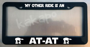 My Other Ride Is An At At Star Wars Imperial Glossy Black License Plate Frame