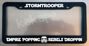 Stormtrooper Empire Popping Rebels Star Wars Glossy Black License Plate Frame