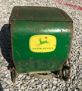 Vintage John Deere Corn Seeder Planter Hopper Box Tractor Metal Farm Yard Art