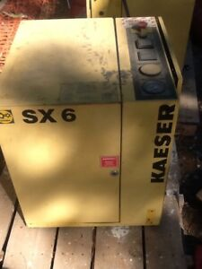 Kaeser Sx6 5 Hp Rotary Screw Air Compressor Atlas Copco Ingersoll Rand Quincy