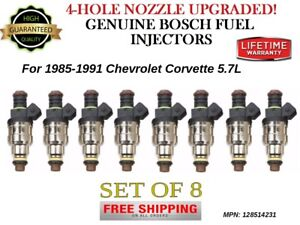 8x Bosch 4 hole Upgraded Fuel Injectors For 1985 1991 Chevrolet Corvette 5 7l