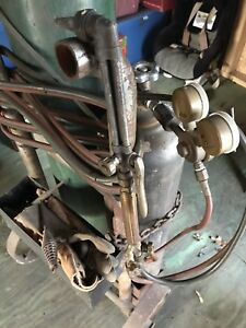 Oxygen Acetylene Outfit Cutting Torch Set With Tanks And Cart