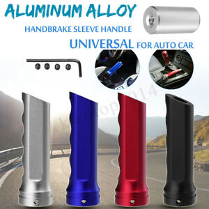 Universal Car Handbrake Sleeve Racing Style Aluminum Alloy Brake Handle Cover