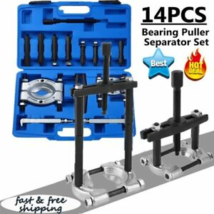 14pc Bearing Separator Puller Set 2 And 3 Splitters Remover And Bearing Kit Ek