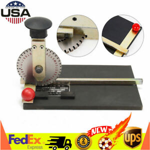 Manual Embossing Machine Metal Plate Stamping Embosser Deboss Dog Tag Printer Us