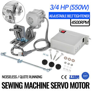 Sewing Machine Brushless Servo Motor 3 4hp 110v Industrial Mounting 4500rpm