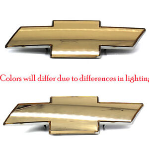 99 02 Chevy Silverado Grille Emblem New Front Grill Gold Badge Sign Glossy Logo