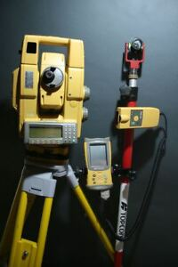 Topcon Gpt 8002a gpt 8202a Robotic Total Station Kit One Person Surveying