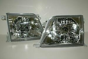 Toyota Land Cruiser Prado Fj90 Headlights Front Lamps Pair 2001 2002
